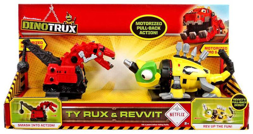 Dinotrux Ty Rux & Revvit Motorized Pull Back 2-Pack