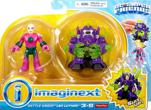 Fisher Price DC Super Friends Imaginext Battle Armor Lex Luthor 3-Inch Figure Set