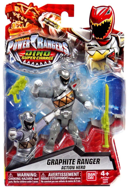 Power Rangers Dino Super Charge Graphite Ranger Action Figure