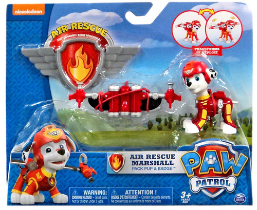 Paw Patrol Action Pack & Badge Air Rescue Marshall Figure