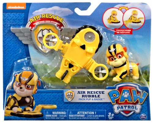 Paw Patrol Action Pack & Badge Air Rescue Rubble Figure
