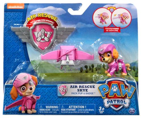 Paw Patrol Action Pack & Badge Air Rescue Skye Figure