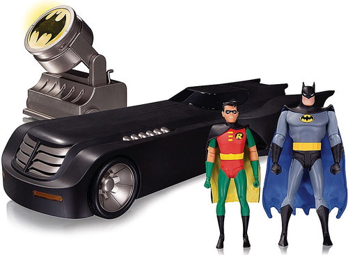 Batman The Animated Series Deluxe Batmobile Action Figures & Vehicle Set [Bat-Signal, Batman & Robin]