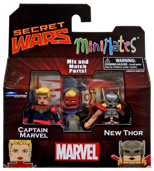 Secret Wars Minimates Series 64 Captain Marvel & New Thor 2-Inch Minifigure 2-Pack