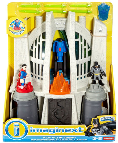 Fisher Price DC Super Friends Imaginext Superman Hall of Justice Playset