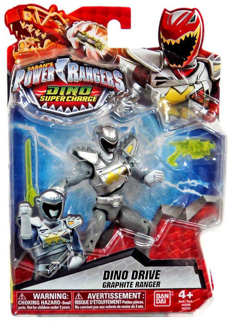 Power Rangers Dino Super Charge Dino Drive Graphite Ranger Action Figure