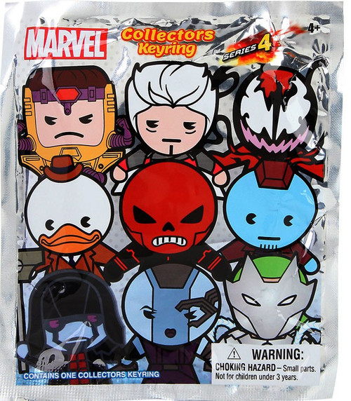 3D Figural Keyring Marvel Series 4 Mystery Pack