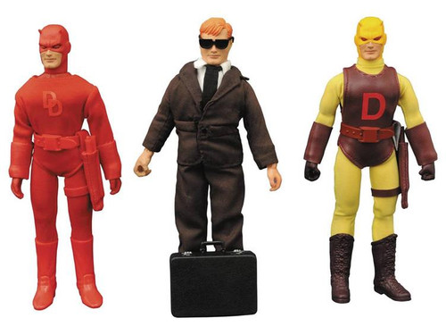 Marvel 8 Inch Retro Daredevil Action Figure 3-Pack Set