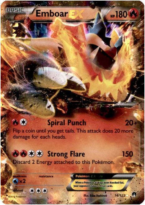 Pokemon X & Y BREAKpoint Ultra Rare Emboar EX #14