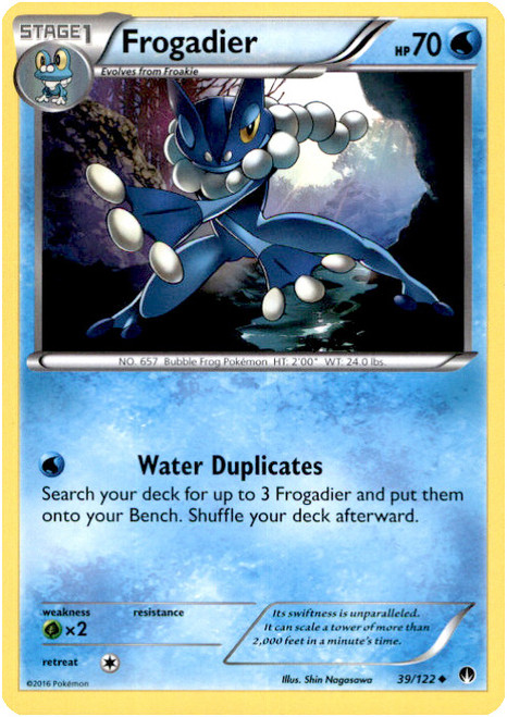 Pokemon X & Y BREAKpoint Uncommon Frogadier #39