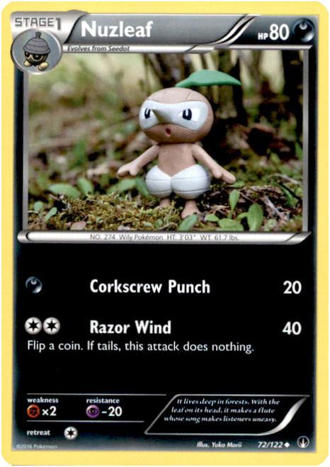 Pokemon X & Y BREAKpoint Uncommon Nuzleaf #72