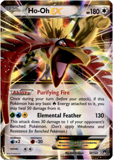 Pokemon X & Y BREAKpoint Ultra Rare Ho-Oh EX #92