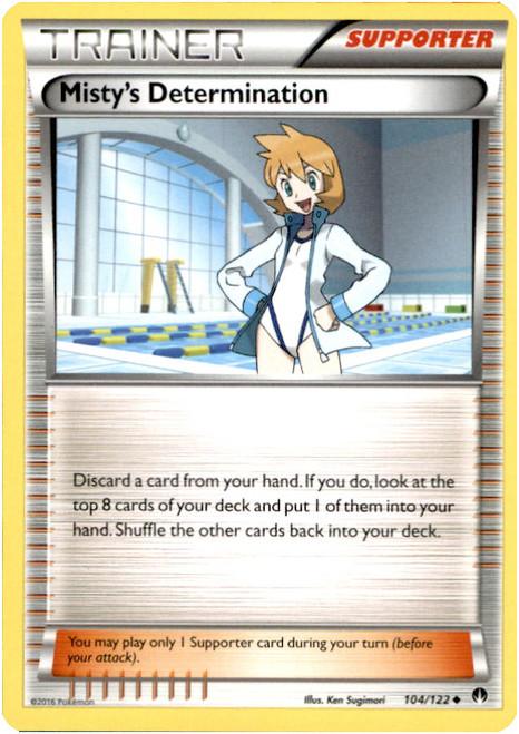 Pokemon X & Y BREAKpoint Uncommon Misty's Determination #104