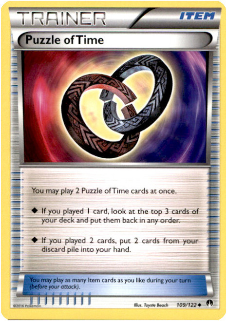 Pokemon X & Y BREAKpoint Uncommon Puzzle of Time #109