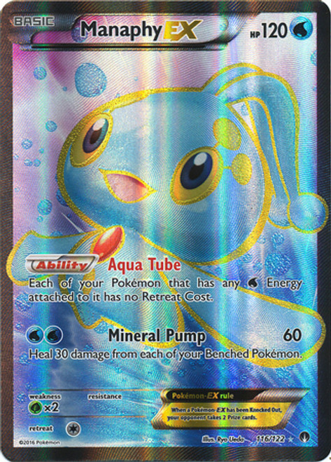Pokemon X & Y BREAKpoint Ultra Rare Manaphy EX #116