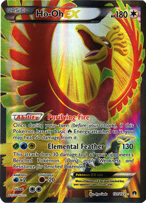 Pokemon X & Y BREAKpoint Ultra Rare Ho-Oh EX #121