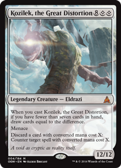 MtG Oath of the Gatewatch Mythic Rare Kozilek, the Great Distortion #4