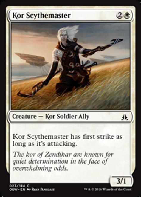 MtG Oath of the Gatewatch Common Kor Scythemaster #23