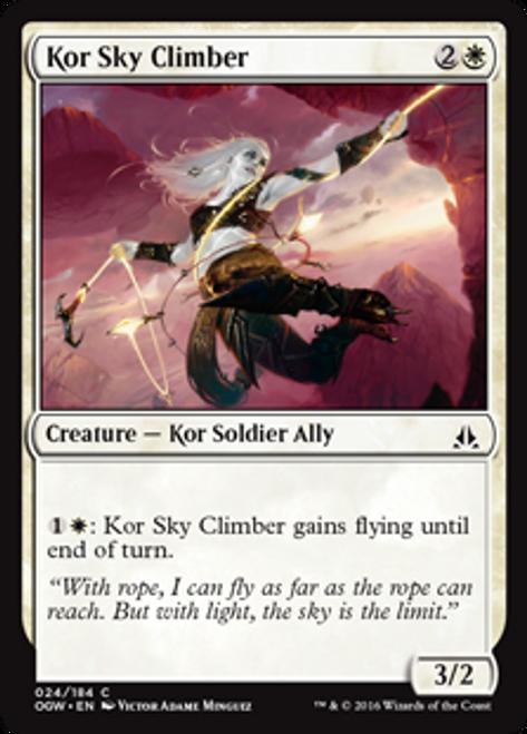 MtG Oath of the Gatewatch Common Kor Sky Climber #24