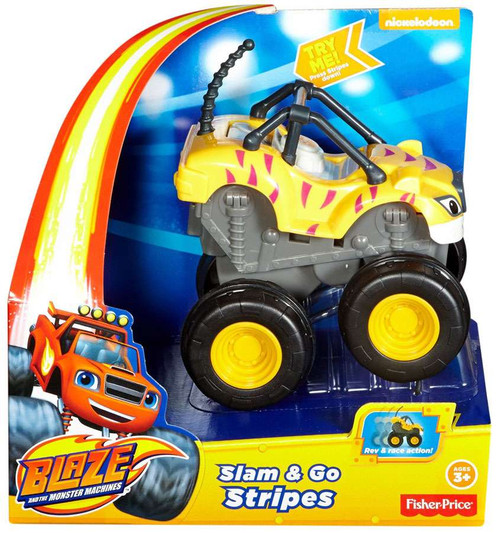 Fisher Price Blaze & the Monster Machines Slam & Go Stripes Vehicle
