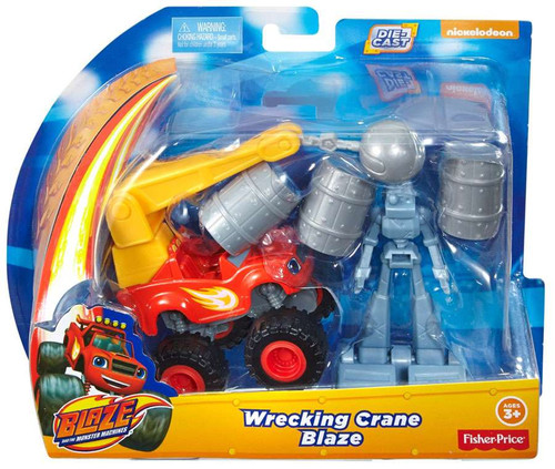 Fisher Price Blaze & the Monster Machines Wrecking Crane Blaze Diecast Playset