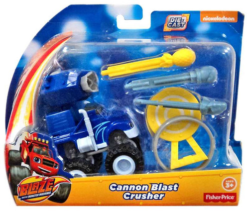 Fisher Price Blaze & the Monster Machines Cannon Blast Crusher Diecast Playset