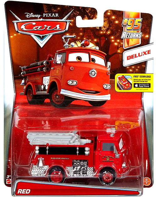 Disney / Pixar Cars Cars 2 Deluxe Oversized Red Diecast Car #5/7 [#95 Returns]