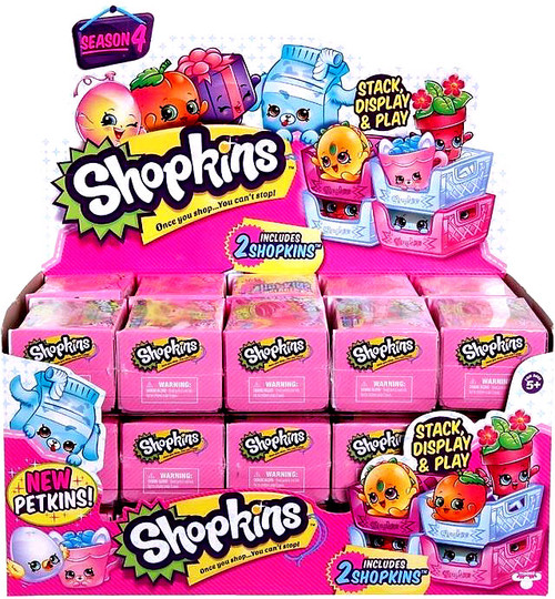 Shopkins Season 4 Box of 30 Mini Figure 2-Packs