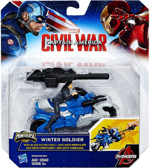 Captain America Civil War Winter Soldier & Blast Action Cycle Action Figure Vehicle