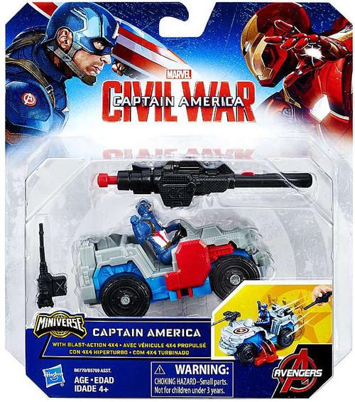 Civil War Captain America & Blast Action 4x4 Action Figure Vehicle