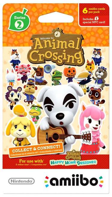 Nintendo Amiibo Series 2 Animal Crossing Cards 6-pack