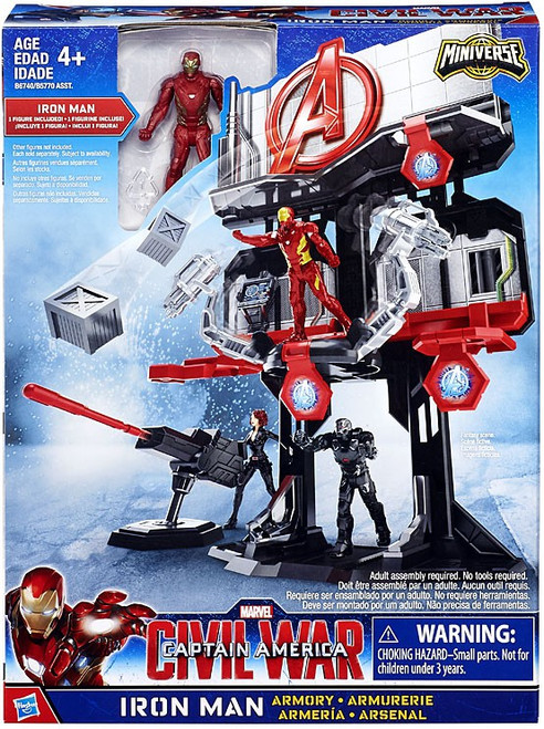 Captain America Civil War Iron Man Armory 2.5-Inch Playset