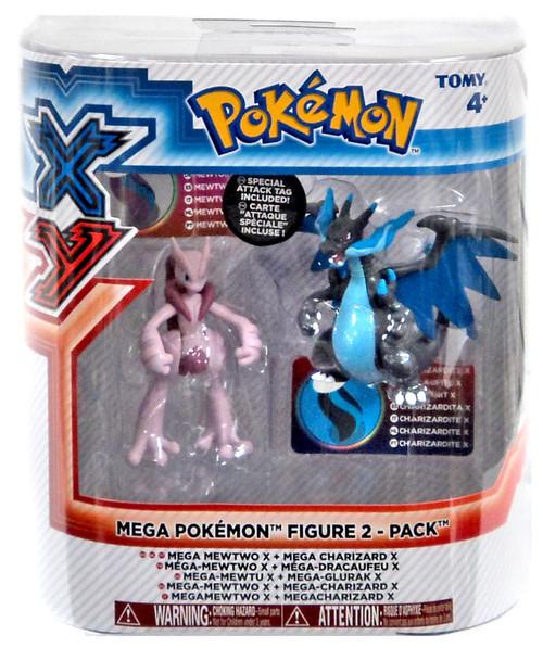 Pokemon XY Mega Mewtwo X & Mega Charizard X Figure 2-Pack