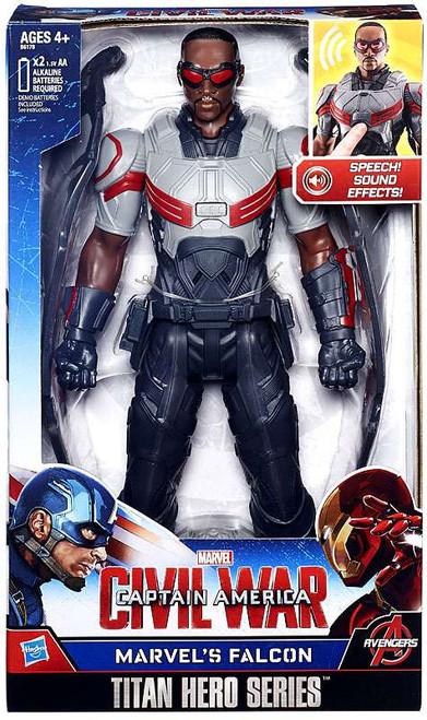 Captain America Civil War Marvel's Falcon Electronic Titan Action Figure [Civil War]