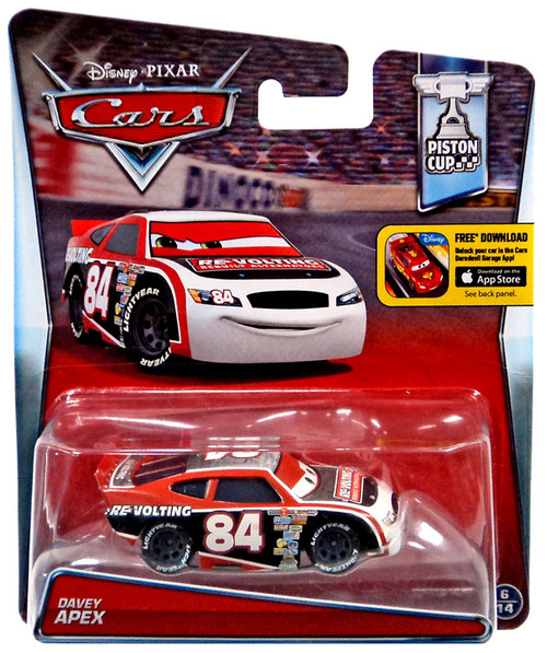 Disney / Pixar Cars Piston Cup Davey Apex Diecast Car #6/14