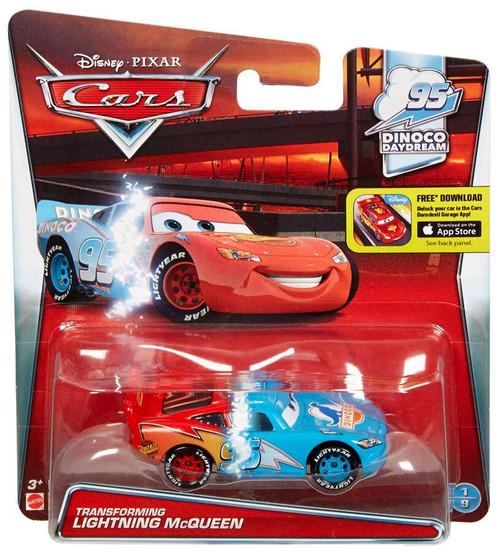 Disney / Pixar Cars Dinoco Daydream Transforming Lightning McQueen Diecast Car #1/9