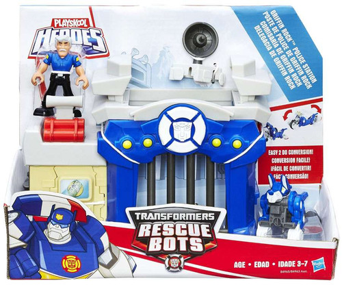Transformers Playskool Heroes Rescue Bots Griffin Rock Police Station Playset