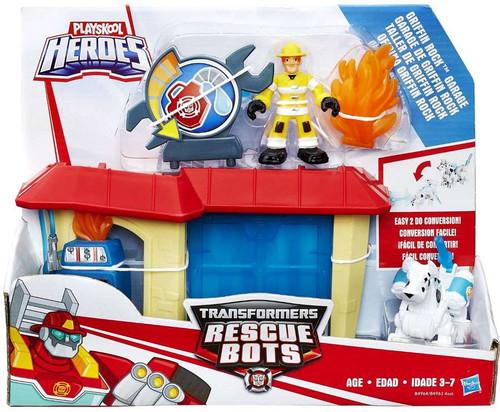 Transformers Playskool Heroes Rescue Bots Griffin Rock Garage Playset