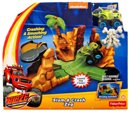 Fisher Price Blaze & the Monster Machines Slam & Crash Zeg Playset