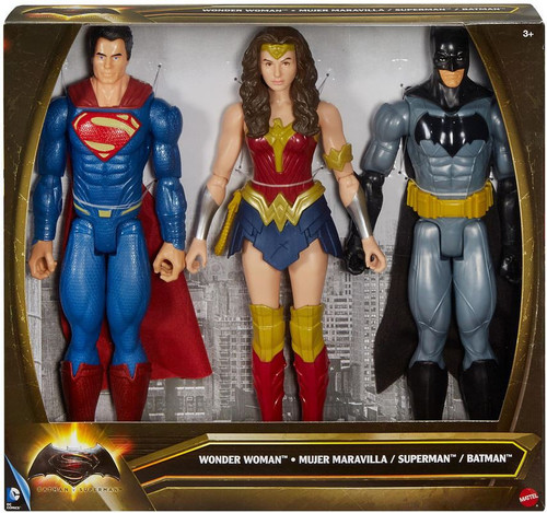 DC Batman v Superman: Dawn of Justice Batman, Superman & Wonder Woman Action Figure 3-Pack