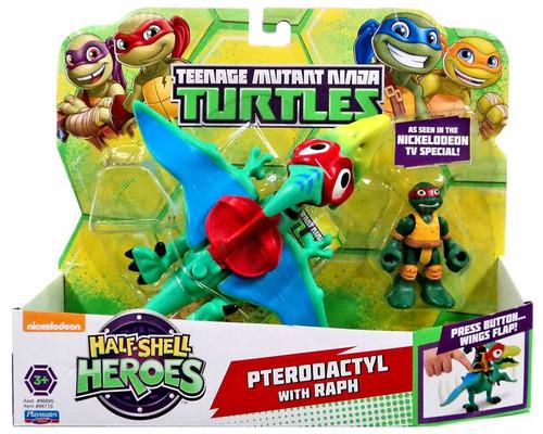 Teenage Mutant Ninja Turtles Nickelodeon Half Shell Heroes Pterodactyl with Raph Action Figure