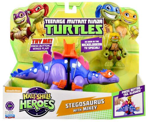 Teenage Mutant Ninja Turtles Nickelodeon Half Shell Heroes Stegosaurus with Mikey Action Figure