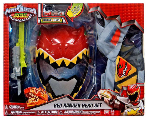 Power Rangers Dino Super Charge Red Ranger Hero Set Roleplay Toy