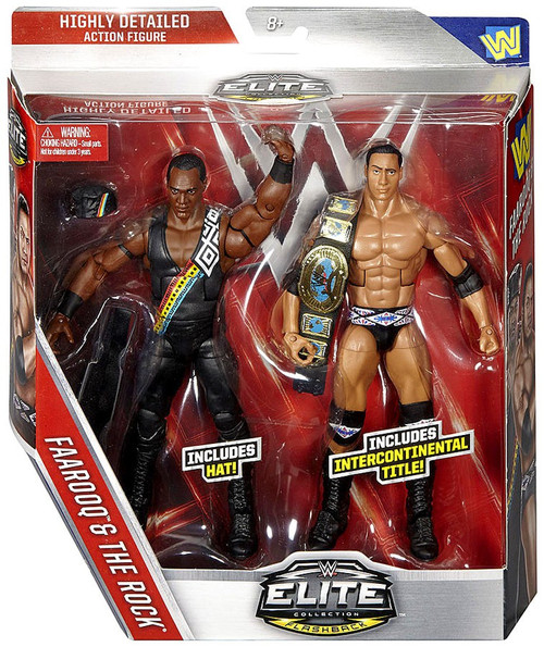 WWE Wrestling Battle Pack Flashback Faarooq & The Rock Exclusive Action Figure 2-Pack [Nation of Domination]