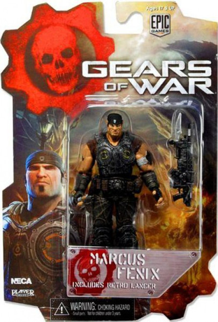 NECA Gears of War 3 Series 1 Marcus Fenix Action Figure [Damaged Package]