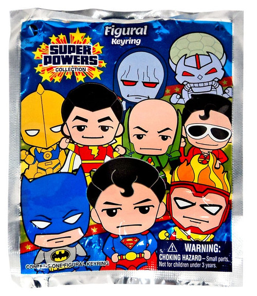3D Figural Keyring DC Superpowers Mystery Pack [1 RANDOM Figure]