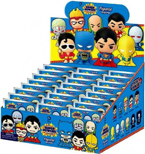 3D Figural Keyring DC Superpowers Mystery Box [24 Packs]