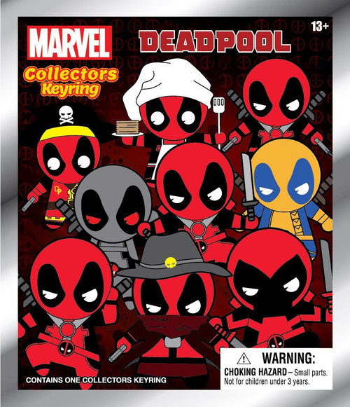 Marvel 3D Figural Keyring Deadpool Series 1 Mystery Pack [1 RANDOM Figure]
