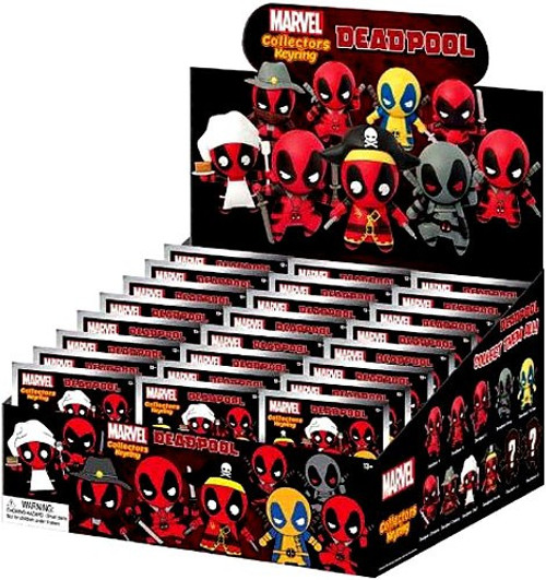 Marvel 3D Figural Keyring Deadpool Series 1 Mystery Box [24 Packs]