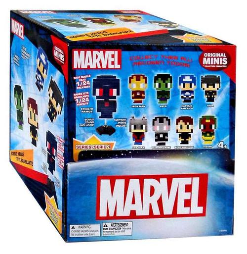 Marvel Original Minis Pixelated Heroes Series 1 Bobble Head Mystery Box [24 Packs]